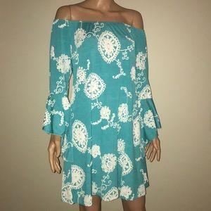 NWT Large Tunic Dress bell sleeve 2B Together LA